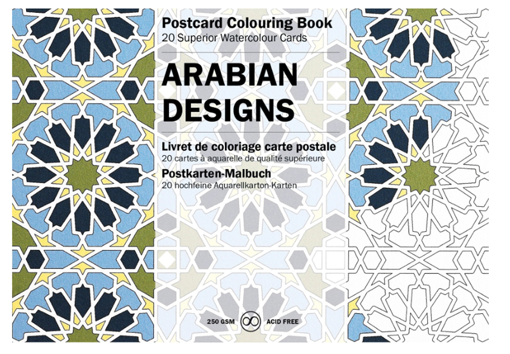 Artists' Colouring Postcard Arabian Designs