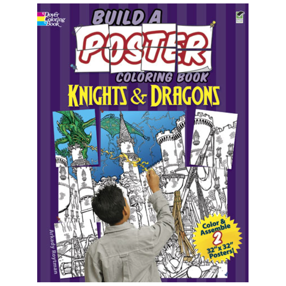 Dover Build A Poster Color Book Knight/Dragon