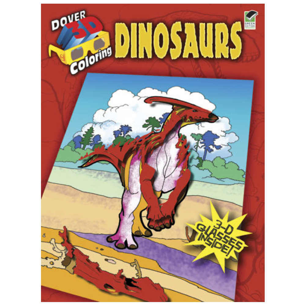 Dover 3D Coloring Book Dinosaurs