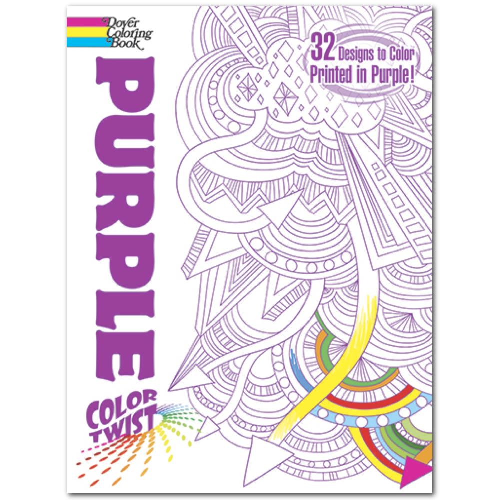 Dover Coloring Book: Colortwist Purple