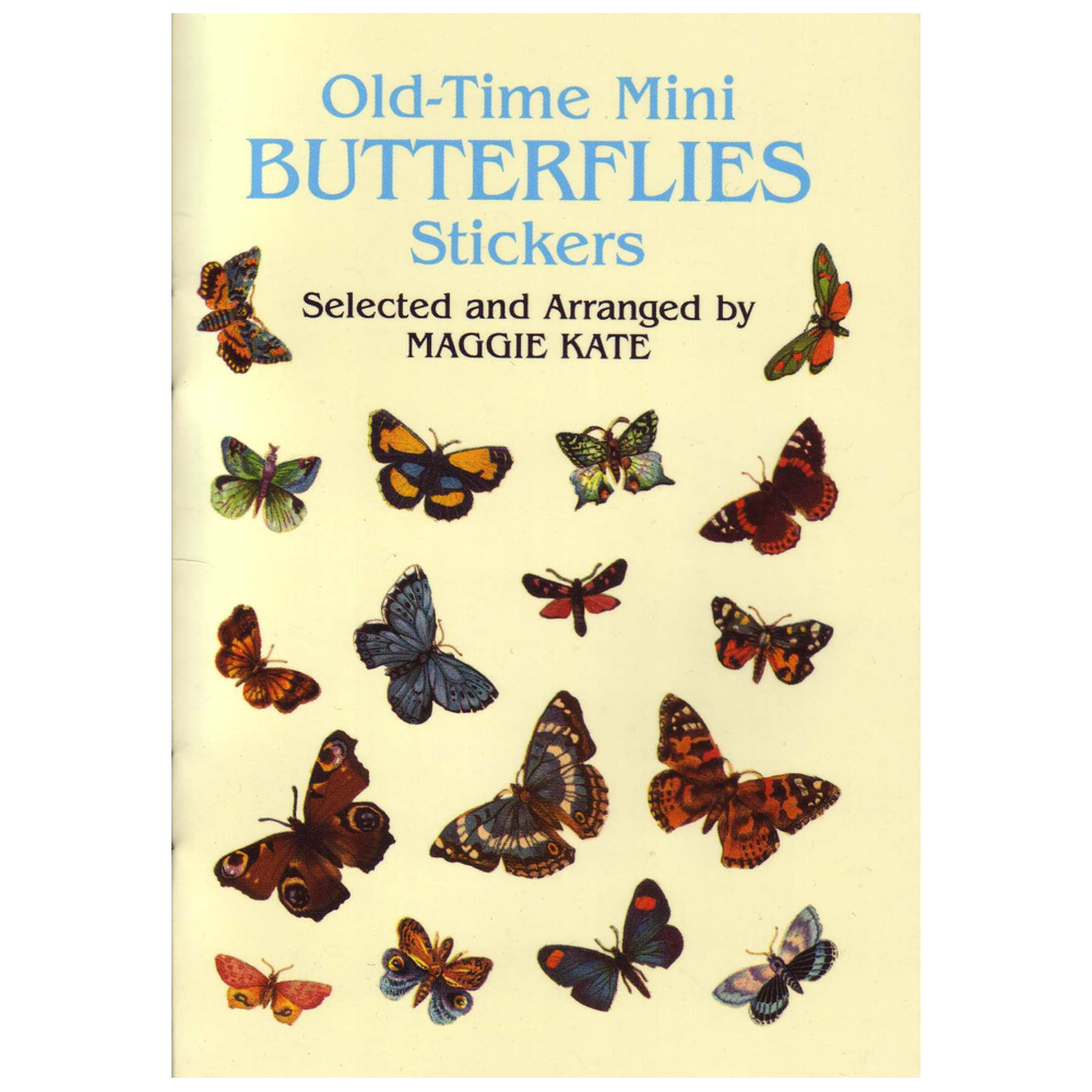 Dover Sticker Book Old-Time Mini Butterflies