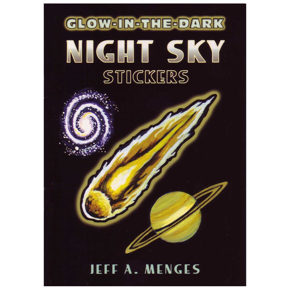 Dover Sticker Book Glow-In-The-Dark Night Sky