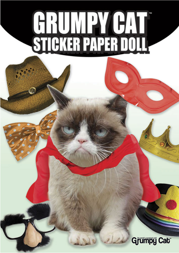 Dover Sticker Paper Doll Grumpy Cat