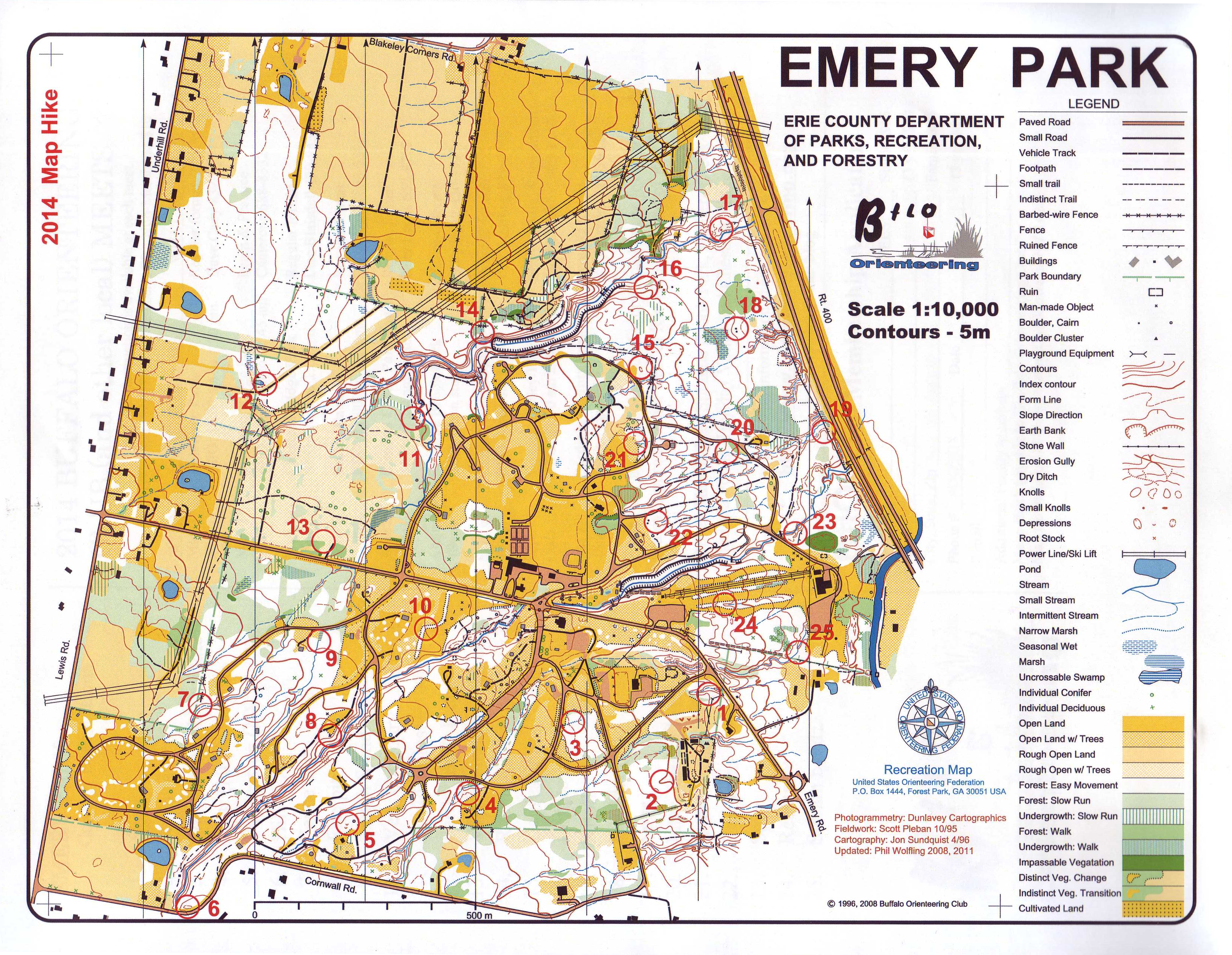 Emery Park Map Hike