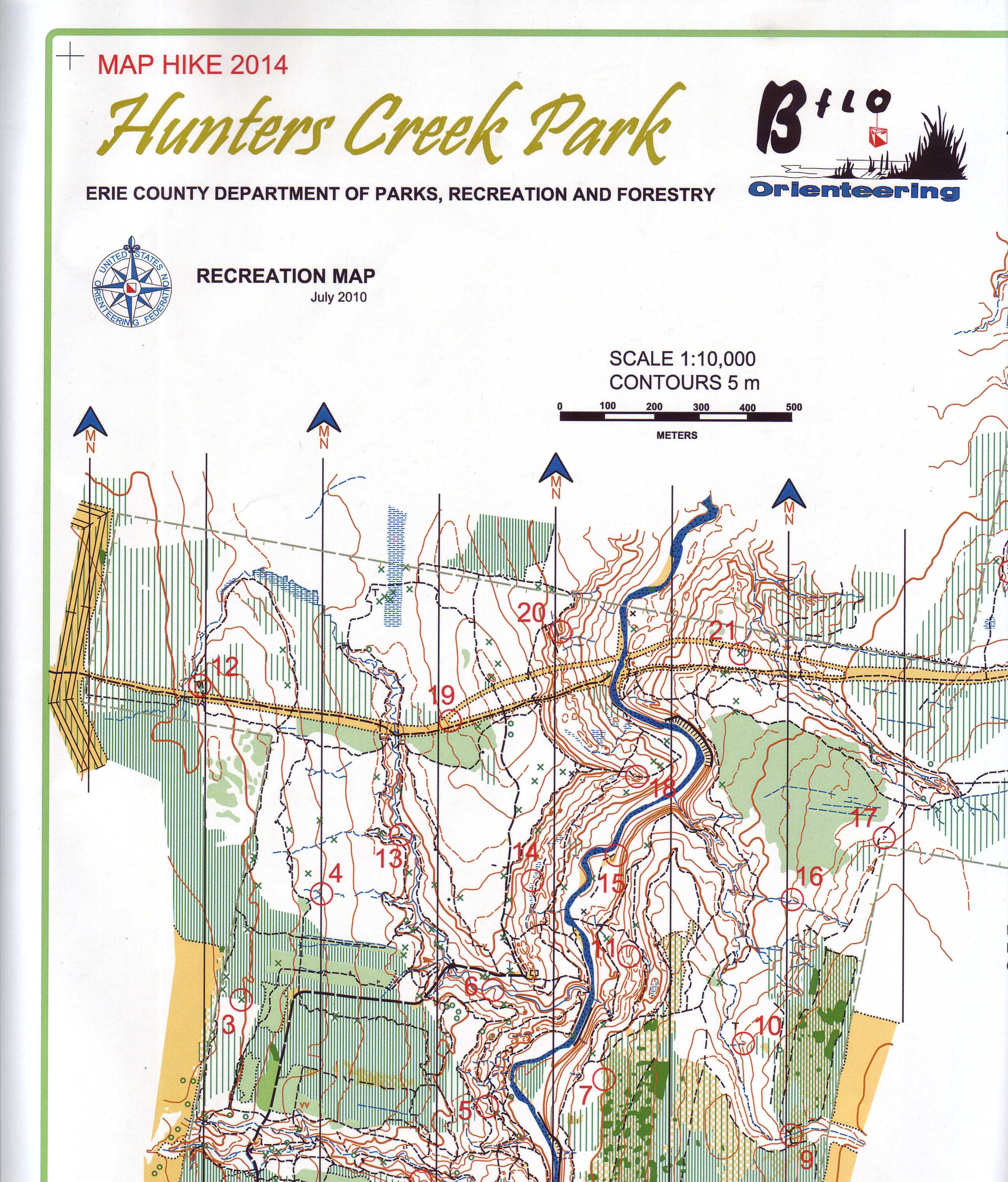 Hunters Creek Map Hike