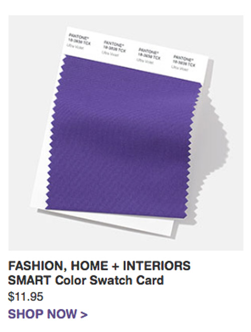Pantone Cotton Swatch 18-3838 Color of the year 2018